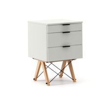 KONTENER BASIC kolor LIGHT GREY stelaż BUK (standard)  Praktyczny kontener jako pomocnik do biurka, lub samodzielna szafka z szufladami. Wykonany ręcznie...