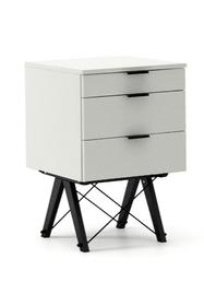 KONTENER BASIC kolor LIGHT GREY stelaż BUK BLACK  Praktyczny kontener jako pomocnik do biurka, lub samodzielna szafka z szufladami. Wykonany ręcznie z...