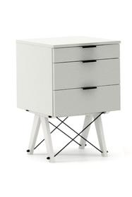 KONTENER BASIC kolor LIGHT GREY stelaż BUK WHITE  Praktyczny kontener jako pomocnik do biurka, lub samodzielna szafka z szufladami. Wykonany ręcznie z...