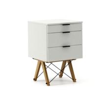 KONTENER BASIC kolor LIGHT GREY stelaż DĄB  Praktyczny kontener jako pomocnik do biurka, lub samodzielna szafka z szufladami. Wykonany ręcznie z litego...