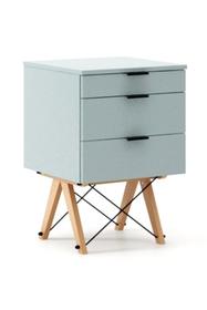KONTENER BASIC kolor ICE BLUE stelaż BUK (standard)  Praktyczny kontener jako pomocnik do biurka, lub samodzielna szafka z szufladami. Wykonany ręcznie z...