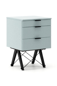 KONTENER BASIC kolor ICE BLUE stelaż BUK BLACK  Praktyczny kontener jako pomocnik do biurka, lub samodzielna szafka z szufladami. Wykonany ręcznie z...