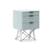 KONTENER BASIC kolor ICE BLUE stelaż BUK WHITE  Praktyczny kontener jako pomocnik do biurka, lub samodzielna szafka z szufladami. Wykonany ręcznie z...