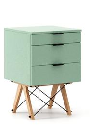 KONTENER BASIC kolor MINT stelaż BUK (standard)  Praktyczny kontener jako pomocnik do biurka, lub samodzielna szafka z szufladami. Wykonany ręcznie z...
