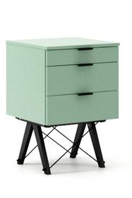 KONTENER BASIC kolor MINT stelaż BUK BLACK  Praktyczny kontener jako pomocnik do biurka, lub samodzielna szafka z szufladami. Wykonany ręcznie z litego...