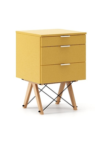 KONTENER BASIC kolor LIGHT MUSTARD stelaż BUK (standard)  Praktyczny kontener jako pomocnik do biurka, lub samodzielna szafka z szufladami. Wykonany...
