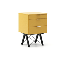 KONTENER BASIC kolor LIGHT MUSTARD stelaż BUK BLACK  Praktyczny kontener jako pomocnik do biurka, lub samodzielna szafka z szufladami. Wykonany ręcznie z...
