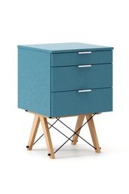 KONTENER BASIC kolor OCEANIC stelaż BUK (standard)  Praktyczny kontener jako pomocnik do biurka, lub samodzielna szafka z szufladami. Wykonany ręcznie z...