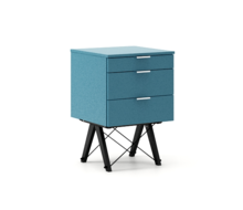 KONTENER BASIC kolor OCEANIC stelaż BUK BLACK  Praktyczny kontener jako pomocnik do biurka, lub samodzielna szafka z szufladami. Wykonany ręcznie z litego...