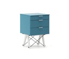 KONTENER BASIC kolor OCEANIC stelaż BUK WHITE  Praktyczny kontener jako pomocnik do biurka, lub samodzielna szafka z szufladami. Wykonany ręcznie z litego...