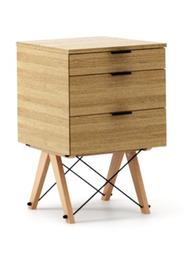 KONTENER BASIC kolor RAW OAK stelaż BUK (standard)  Praktyczny kontener jako pomocnik do biurka, lub samodzielna szafka z szufladami. Wykonany ręcznie z...