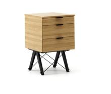 KONTENER BASIC kolor RAW OAK stelaż BUK BLACK  Praktyczny kontener jako pomocnik do biurka, lub samodzielna szafka z szufladami. Wykonany ręcznie z litego...