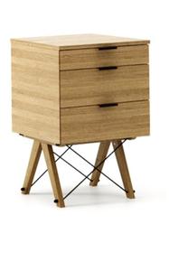 KONTENER BASIC kolor RAW OAK stelaż DĄB  Praktyczny kontener jako pomocnik do biurka, lub samodzielna szafka z szufladami. Wykonany ręcznie z litego...