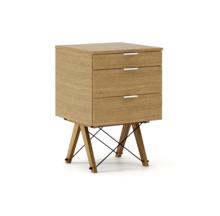 KONTENER BASIC LUXURY WOOD blat DĄB stelaż DĄB  Praktyczny kontener jako pomocnik do biurka, lub samodzielna szafka z szufladami. Wykonany ręcznie z...