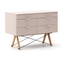 KONTENER DOUBLE kolor DUSTY PINK stelaż BUK (standard)  Praktyczny kontener jako pomocnik do biurka, lub samodzielna szafka z szufladami. Wykonany ręcznie...