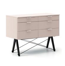 KONTENER DOUBLE kolor DUSTY PINK stelaż BUK BLACK  Praktyczny kontener jako pomocnik do biurka, lub samodzielna szafka z szufladami. Wykonany ręcznie z...