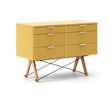 KONTENER DOUBLE kolor LIGHT MUSTARD stelaż BUK (standard)  Praktyczny kontener jako pomocnik do biurka, lub samodzielna szafka z szufladami. Wykonany...