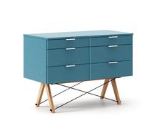 KONTENER DOUBLE kolor OCEANIC stelaż BUK (standard)  Praktyczny kontener jako pomocnik do biurka, lub samodzielna szafka z szufladami. Wykonany ręcznie z...