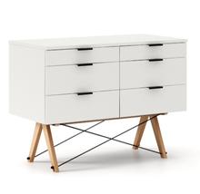 KONTENER DOUBLE kolor WHITE stelaż BUK (standard)  Praktyczny kontener jako pomocnik do biurka, lub samodzielna szafka z szufladami. Wykonany ręcznie z...
