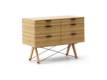 KONTENER DOUBLE kolor RAW OAK stelaż BUK (standard)  Praktyczny kontener jako pomocnik do biurka, lub samodzielna szafka z szufladami. Wykonany ręcznie z...