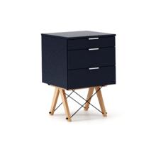 KONTENER KIDS basic kolor NAVY stelaż BUK (standard)  Mini-kontener do dziecięcego biurka, lub samodzielna szafka z szufladami, np. do postawienia przy...