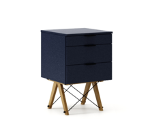 KONTENER KIDS basic kolor NAVY stelaż DĄB  Mini-kontener do dziecięcego biurka, lub samodzielna szafka z szufladami, np. do postawienia przy łóżku....