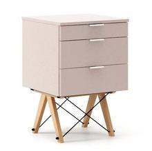 Mini-kontener do dziecięcego biurka, lub samodzielna szafka z szufladami, np. do postawienia przy łóżku. Wykonana ręcznie z litego drewna i blatu w...