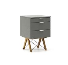 KONTENER KIDS basic kolor GREY stelaż DĄB  Mini-kontener do dziecięcego biurka, lub samodzielna szafka z szufladami, np. do postawienia przy łóżku....
