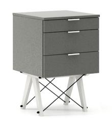 KONTENER KIDS basic kolor GREY stelaż BUK WHITE  Mini-kontener do dziecięcego biurka, lub samodzielna szafka z szufladami, np. do postawienia przy...