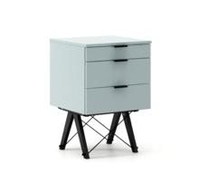 KONTENER KIDS basic kolor ICE BLUE stelaż BUK BLACK  Mini-kontener do dziecięcego biurka, lub samodzielna szafka z szufladami, np. do postawienia przy...