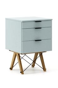 KONTENER KIDS basic kolor ICE BLUE stelaż DĄB  Mini-kontener do dziecięcego biurka, lub samodzielna szafka z szufladami, np. do postawienia przy...