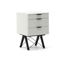 KONTENER KIDS basic kolor LIGHT GREY stelaż BUK BLACK  Mini-kontener do dziecięcego biurka, lub samodzielna szafka z szufladami, np. do postawienia przy...