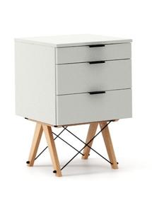 KONTENER KIDS basic kolor LIGHT GREY stelaż BUK (standard)  Mini-kontener do dziecięcego biurka, lub samodzielna szafka z szufladami, np. do postawienia...