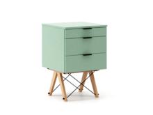 KONTENER KIDS basic kolor MINT stelaż BUK (standard)  Mini-kontener do dziecięcego biurka, lub samodzielna szafka z szufladami, np. do postawienia przy...
