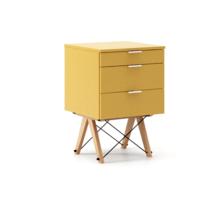 KONTENER KIDS basic kolor LIGHT MUSTARD stelaż BUK (standard)  Mini-kontener do dziecięcego biurka, lub samodzielna szafka z szufladami, np. do...