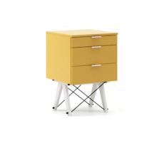 KONTENER KIDS basic kolor LIGHT MUSTARD stelaż BUK WHITE  Mini-kontener do dziecięcego biurka, lub samodzielna szafka z szufladami, np. do postawienia...