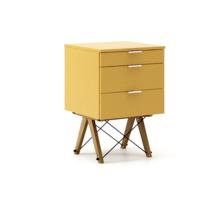 KONTENER KIDS basic kolor LIGHT MUSTARD stelaż DĄB  Mini-kontener do dziecięcego biurka, lub samodzielna szafka z szufladami, np. do postawienia przy...