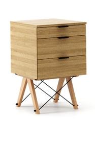 KONTENER KIDS basic kolor RAW OAK stelaż BUK (standard)  Mini-kontener do dziecięcego biurka, lub samodzielna szafka z szufladami, np. do postawienia przy...