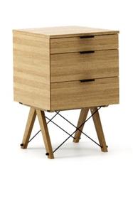 KONTENER KIDS basic kolor RAW OAK stelaż DĄB  Mini-kontener do dziecięcego biurka, lub samodzielna szafka z szufladami, np. do postawienia przy łóżku....