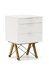 KONTENER KIDS basic kolor WHITE stelaż DĄB  Mini-kontener do dziecięcego biurka, lub samodzielna szafka z szufladami, np. do postawienia przy łóżku....