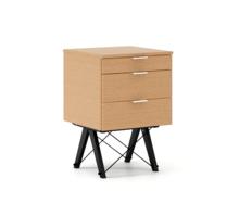 KONTENER KIDS basic LUXURY WOOD blat BUK stelaż BUK BLACK  Mini-kontener do dziecięcego biurka, lub samodzielna szafka z szufladami, np. do postawienia...