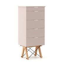 KOMODA TALLBOY TALL kolor DUSTY PINK stelaż BUK (standard)  Komoda w formie szufladnika TALLBOY. Idealnie posłuży jako bieliźniarka w sypialni lub...