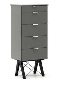 KOMODA TALLBOY TALL kolor GREY stelaż BUK BLACK  Komoda w formie szufladnika TALLBOY. Idealnie posłuży jako bieliźniarka w sypialni lub pokoju dziecka....