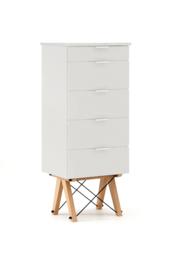 KOMODA TALLBOY TALL kolor LIGHT GREY stelaż BUK (standard)  Komoda w formie szufladnika TALLBOY. Idealnie posłuży jako bieliźniarka w sypialni lub...