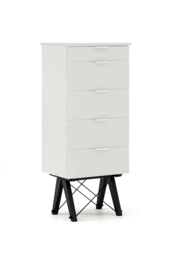 KOMODA TALLBOY TALL kolor LIGHT GREY stelaż BUK BLACK  Komoda w formie szufladnika TALLBOY. Idealnie posłuży jako bieliźniarka w sypialni lub pokoju...