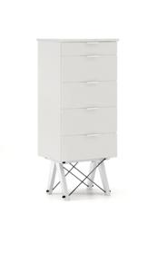 KOMODA TALLBOY TALL kolor LIGHT GREY stelaż BUK WHITE  Komoda w formie szufladnika TALLBOY. Idealnie posłuży jako bieliźniarka w sypialni lub pokoju...