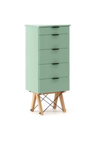 KOMODA TALLBOY TALL kolor MINT stelaż BUK (standard)  Komoda w formie szufladnika TALLBOY. Idealnie posłuży jako bieliźniarka w sypialni lub pokoju...