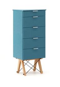 KOMODA TALLBOY TALL kolor OCEANIC stelaż BUK (standard)  Komoda w formie szufladnika TALLBOY. Idealnie posłuży jako bieliźniarka w sypialni lub pokoju...