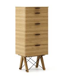 KOMODA TALLBOY TALL kolor RAW OAK stelaż DĄB  Komoda w formie szufladnika TALLBOY. Idealnie posłuży jako bieliźniarka w sypialni lub pokoju dziecka....
