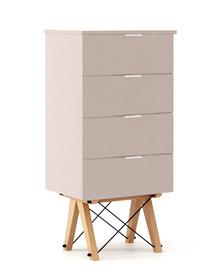 KOMODA TALLBOY LOW kolor DUSTY PINK stelaż BUK (standard)  Komoda w formie szufladnika TALLBOY. Idealnie posłuży jako bieliźniarka w sypialni lub pokoju...
